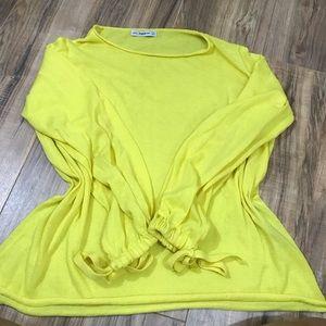 ZARA KNIT mustard yellow longsleeve shirt
